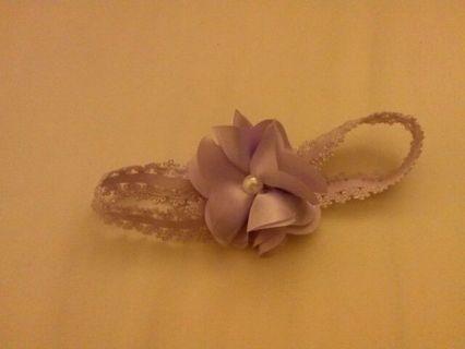 Purple flower headband