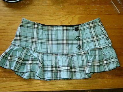 Turquoise plaid skirt