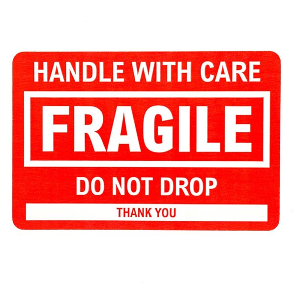 Free: 25 FRAGILE / HANDLE WITH CARE / DO NOT DROP Shipping
