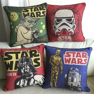 Decorative Cushion Cover Throw Pillowcase Star Wars Seat Chair Cushion Case