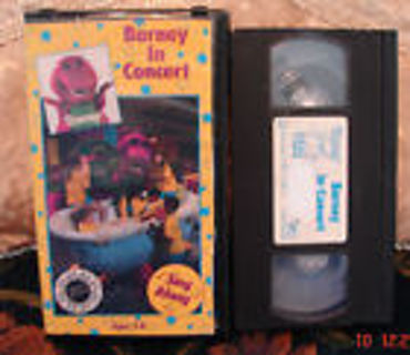 Free Barneys RARE Barney In Concert SING ALONG VHS Listia - Barney concert vhs