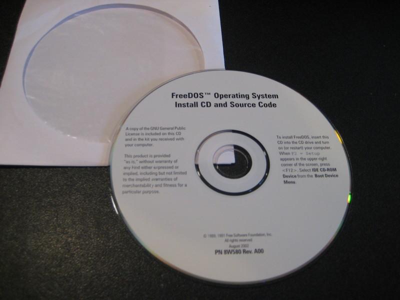 Free: FreeDOS OS & source code CD - Software - Listia com