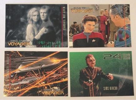 4x Star Trek Voyager Trading Cards 1995