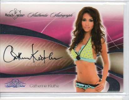 2008 Benchwarmer Catherine Kluthe Autograph