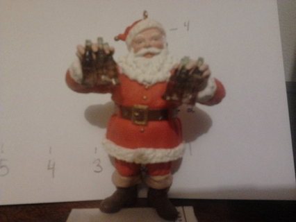 Coca Cola Santa Christmas Ornament --very cute--**FREE SHIPPING**