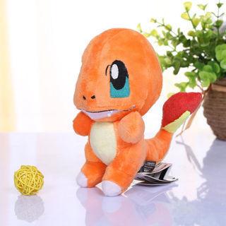 "6"" Plush Toy Charmander Collectible Game Figure Stuffed Animal Doll Kids Gift"