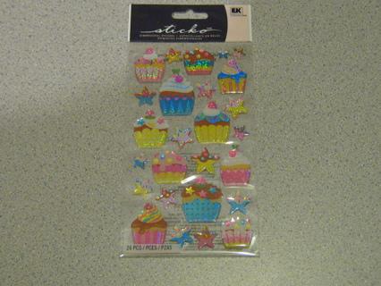 Cupcake Dimensional Stickers!! Super Cute!!