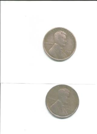 3 Old wheat Pennies