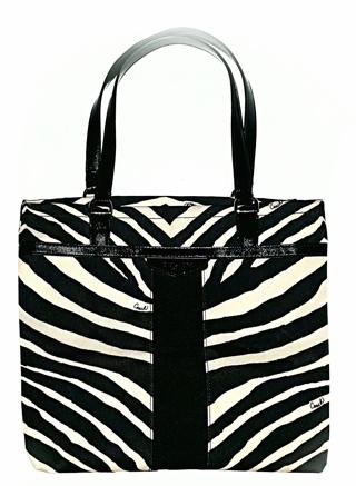COACH #F23283 - Black Zebra Stripe Medium Tote