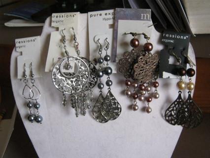 Lot 10 Pair Dangle Earrings  Never Worn