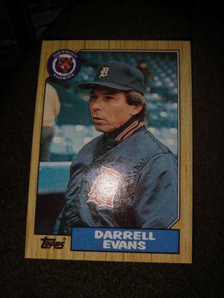 Baseball Card - Darrell Evans 1987