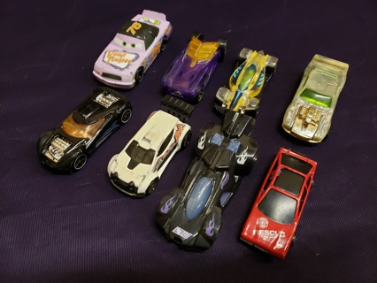 Vintage Lot of 8 Collectible Toy Cars Mattel Hotwheels