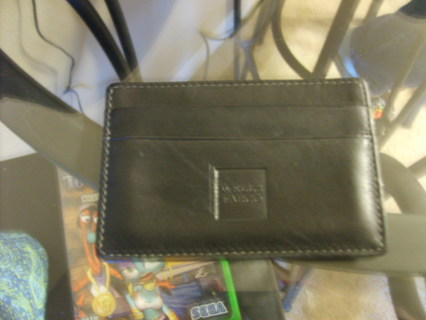 Free: Black Wells Fargo Credit card Holder - Other Clothing