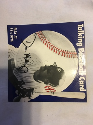 Don Mattingly talking baseball card