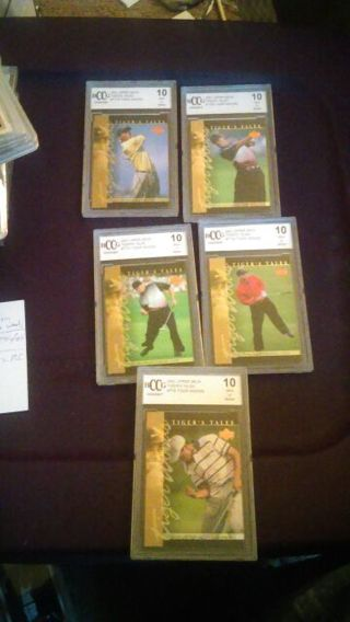 Tiger Woods Value Pack # 2!! graded Bonanza!!