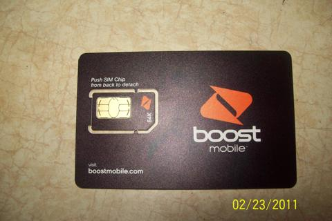 BRAND NEW BOOST MOBILE SIM CARD