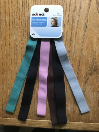New in Package Scunci Package of 6 Headbands