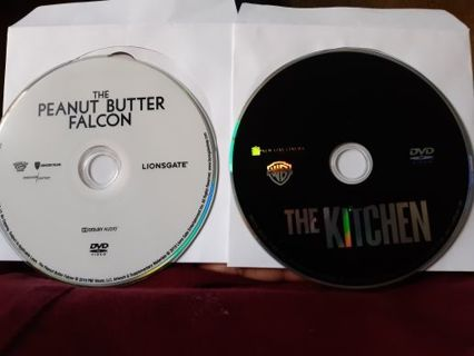 2 DVDs movies disc only The Kitchen and The Peanut butter falcon