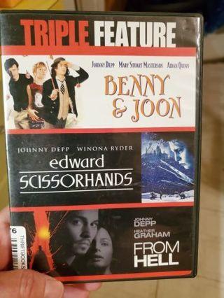 BENNY & JOON, EDWARD SCISSORHANDS. FROM HELL