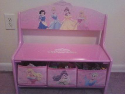 Free Disney Princesses Bench With Storage Bins Other
