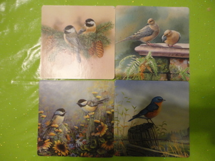 Coasters (4) BIRDS AND FLOWERS