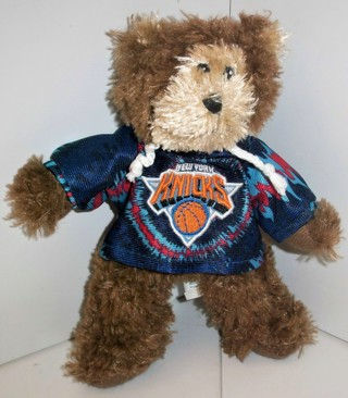 "2010 NBA New York Knicks stuffed animal - 8"" tall - VG pre-owned condition"