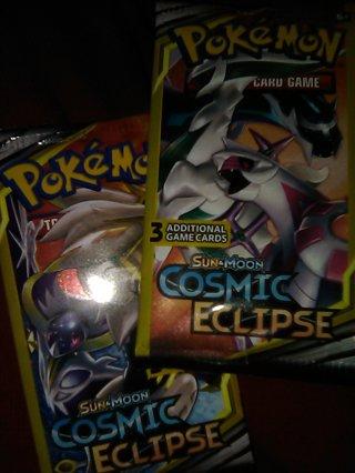 Sealed BNIP Cosmic Eclipse Pokemon 3 ct Booster Pk Cards