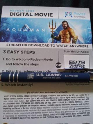 Aquaman digital code.