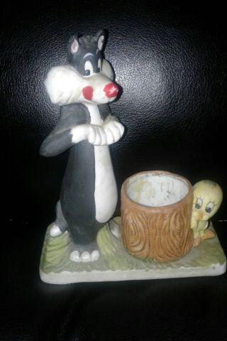 1980 Sylvester/Tweetie Figures Ceramic Warner Bros Vintage