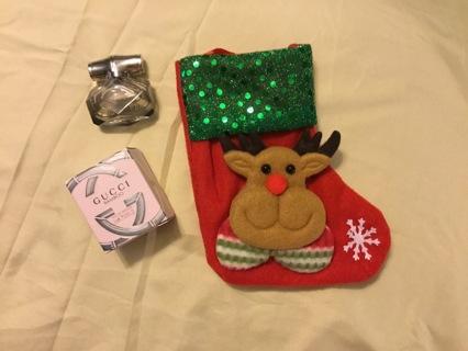 Gucci Bamboo mini NIB inside reindeer stocking
