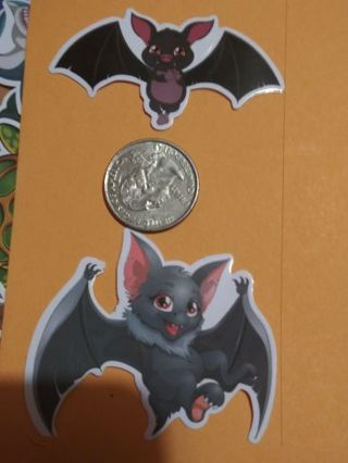 Two bats labtop sticker adorable lowest gins! No refunds! No lower brand new!