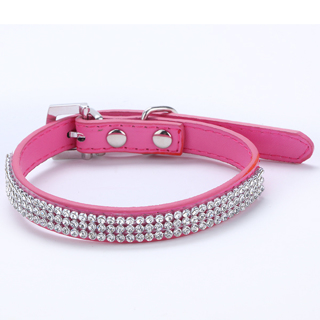 Dog PU Leather Collar Puppy Cat Buckle Neck