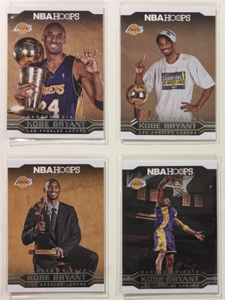 2017-2018 Panini NBA Hoops #s 293 294 295 297 Kobe Bryant Basketball Cards Lot of 4