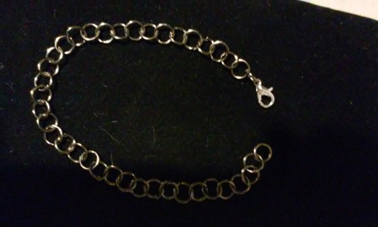 New! Simple gunmetal chain bracelet 8