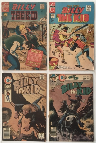 Billy The Kid #s 70 95 118 120 Lot of 4 Cowboy Western Bronze Age 1969-1976 Charlton Comic Books