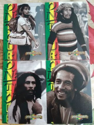 "4 - Bob Marley: The Legend ""Bob On Tour"" Trading Cards"
