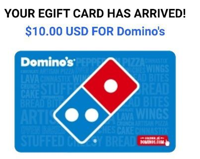 Pizza gift card