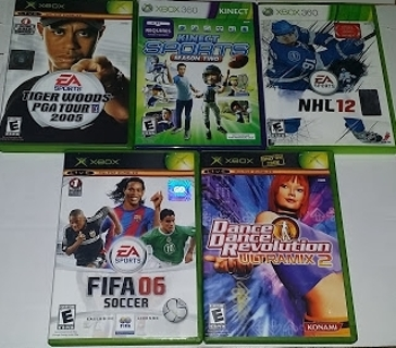 Lot of 5 Xbox & XBox 360 Games! (Free Shipping)
