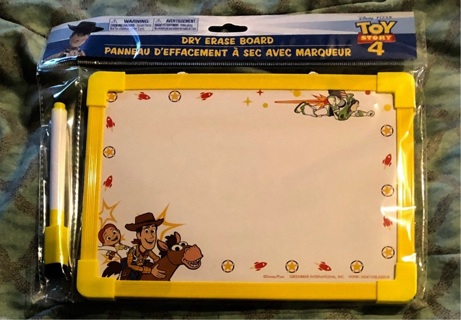 "BNIP ""Disney PIXAR"": Toy Story4, Dry Erase Board And Marker"