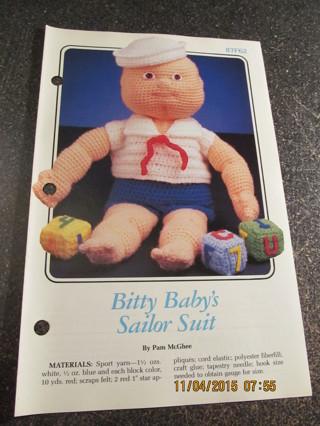 Bitty Baby's Sailor Suit
