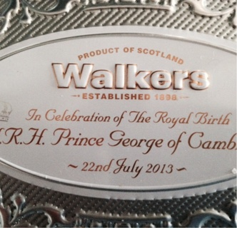 Tin canister Baby Prince George