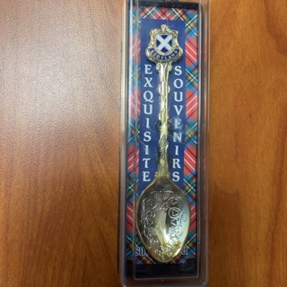 Exquisite Souvenirs silver plated spoon