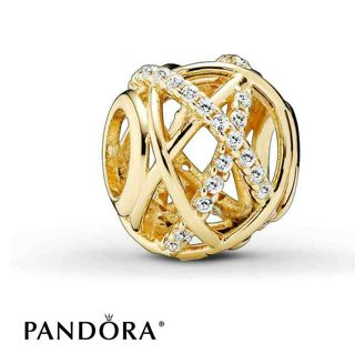 ☆ ♡ 14K AUTHENTIC PANDORA GOLD GALAXY CHARM ☆ ♡