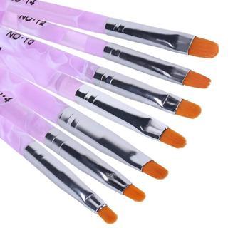 Elite99 7pcs/set Painting Drawing Brushes Set Nail Art Brush Pens Varnish Brushes LED UV Gel Nail