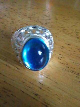 Unisex light blue ring