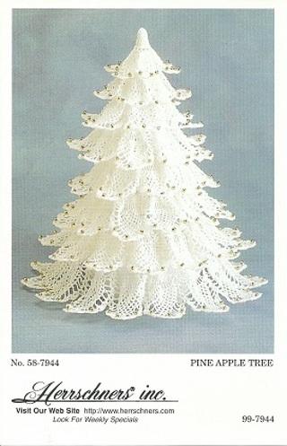 Free Herrschners Pineapple Christmas Tree Pattern Crochet