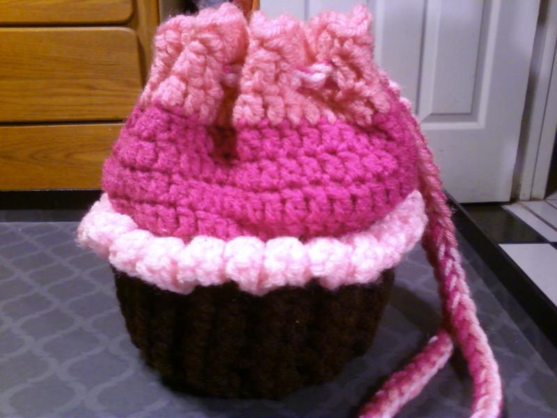 Crochet Bag Pattern Cotton : Free: Crochet Cupcake/Cradle Purse with Doll - Dolls ...
