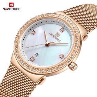 NAVIFORCE Women Luxury Brand Waterproof Casual Wristwatch
