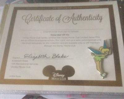 BN Disney Tinker Bell Trading pin
