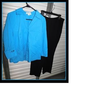 Gorgeous Plus Size Outfit Jennifer Grace Blouse & $46.00 Slacks!!!
